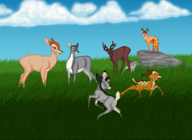"""bambi and family """"remake"""" by dbarts95"""