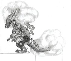 Miniature Clockwork Dragon of Obscuring Mist by angerbunnie