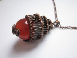 Pendant with carnelian by eyebrightart