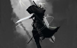 Cloud Strife Wallpaper by SamIsGarbage