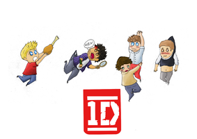 One Direction paperchildren by Nachmonta