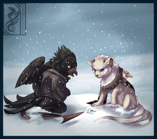 SoC_First Snow with Little-Noko by ShadowOfSolace