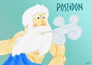 Poseidon, god of the sea