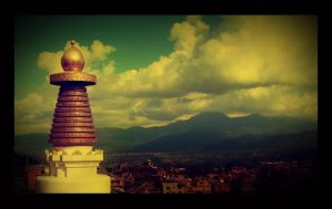 View from Forpin Monastery by kingshrestha