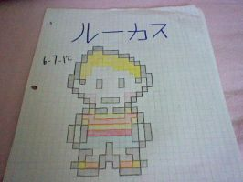 Lucas sprite ON PAPER by Lucaslover89