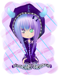 Kawaii Purple Love Adopt (OPEN) by XReinaxStarX