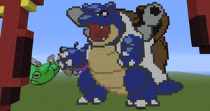 Minecraft Pokemon #009:  Blastoise by Sherio88