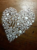 Mum - papercut template by PaperPandaCuts