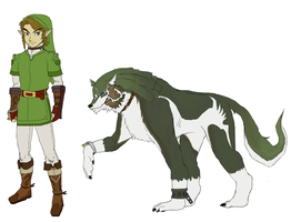 Shigoto!TP Link's New Clothes + Wolf Link by SiscoCentral1915