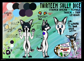 Thirteen Sully Dice Reff Sheet by TECHNlCOLOUR