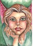 Thinking Fairy Aceo by artwoman3571
