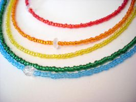 Beaded Rainbow Necklace by jloli