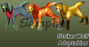 Striker Wolves free Adopts 2 by SkulldogAdopts