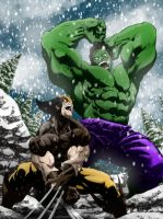 WOLVERINE VS HULK colors by CThompsonArt