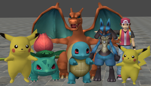 xnalara pokemon models by twinlightownz
