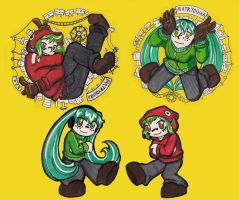 Matryoshka play with markers by Mel-the-shadow-lover