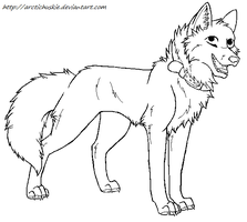Free Dog lineart 5 by ArcticHuskie