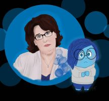 Phyllis Smith as Sadness by HarleyMT
