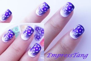 Basic Gradient Fimo Nail Art 2 by EmpressTang