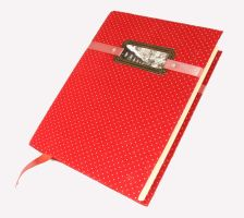 Polka dot notebook by Katlinegrey