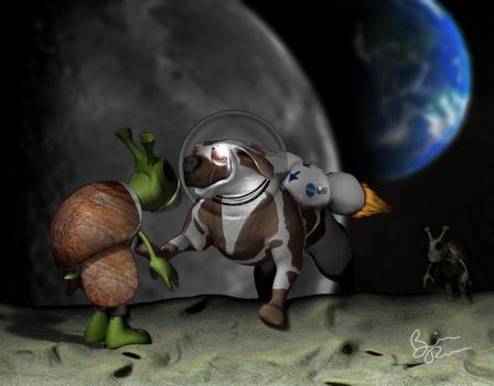 spacedog by rio3d