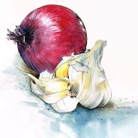 Onion and Garlic by April-A