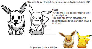 Pikachu And Eevee Base by gKirbyfollowersbases