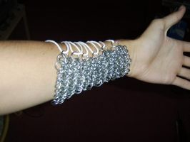 Chainmaille Archery Bracer by kingtut98