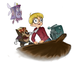The Pagemaster by animatedshoes
