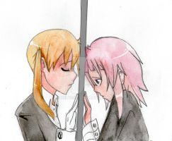 SE-Maka and Crona | Watercolors by Zelyssu