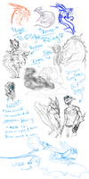 :Flight Rising:  Sketch Dump by DrawingFoxxer