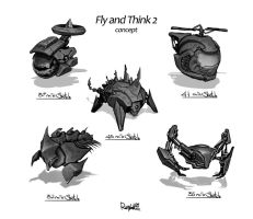 Fly and Think sketches by Rayvell