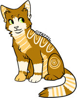 Double Stripes Cat Adopt (1) (Open) by FinchiAdopts