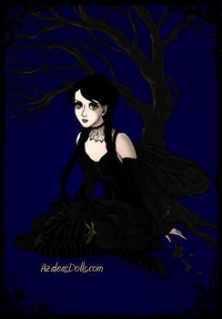 Wednesday Addams Fairy by adrianaTheGirlOnFire