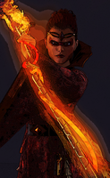 FIRE MAGE by IceDragonArt