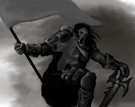 Warrior Grayscale by PanthersGhost
