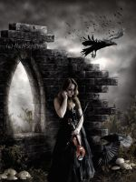 Goth Violin by dl120471