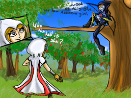 :Contest: Assassin's meet by VioletHybrid