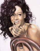 Rihanna Pencil Art FINISHED by turanneth