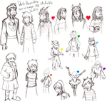 Undertale AU Doodles Part 2 by DarkPheonixtma