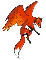 Grace, the winged fox by Kunzai