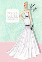 Jennifer Lawrence at the Golden Globes by frozen-winter-prince