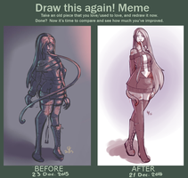 [MEME] Draw This Again : Sketched Aralyn. by EmiroArts