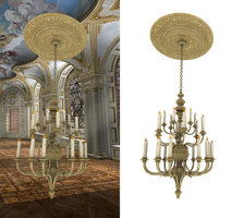 chandelier 001 PNG by neverFading-stock