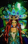 Greek Goddess Hera Mardi Gras Version by dakotassong