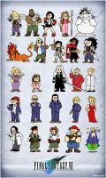 Final Fantasy VII Squishies by CitizenWolfie