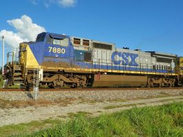 Typical Southern CSX Locomotive by Silverwolf-1ofmany