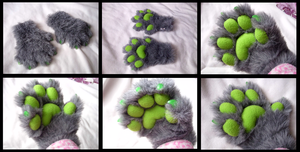 Firewolf Handpaws by CuriousCreatures