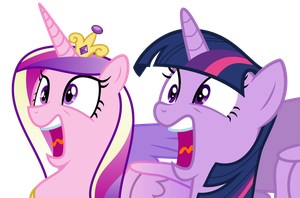 Screaming Twi and Cadence by SpenceTheNewbie