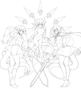 Commission for MirageV 2 LINE ART by Oniika